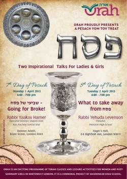 Pesach Yom Tov Talks 2013-01