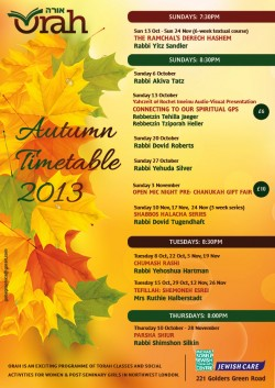 Autumn Timetable 2013