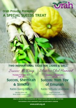 Orah Succos 2014 Poster