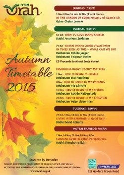 Autumn Timetable 2015